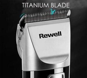 Image 2 - Rewell tondeuse à cheveux professionnelle, Rechargeable, batterie au Lithium, en alliage de titane, pour coiffeur, Turbo