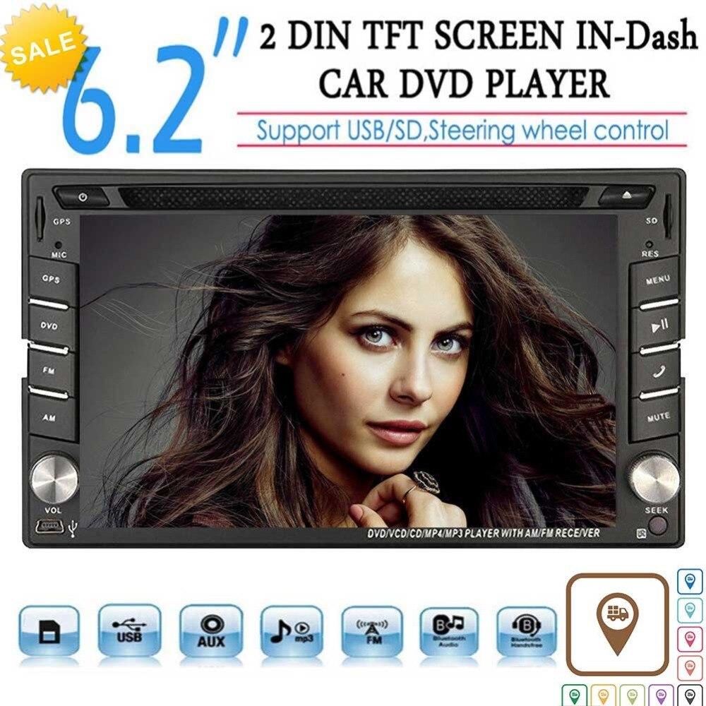 EinCar ПК автомобиля стерео CD dvd плеер двойной Din в тире автомобиля Радио Видео мультимедийный плеер навигатор с Bluetooth gps навигации
