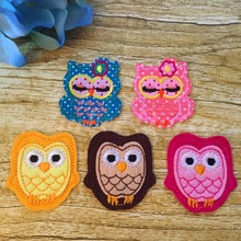 Mixed 10pcs Cute Owls Cartoon Patch Embroidered Iron-on For Kids Clothes Motif Applique Kindergarten Artisanal DIY