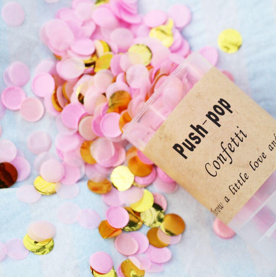 100g Pink & Gold Circle Confetti | Bridal Shower | Table Decor ...