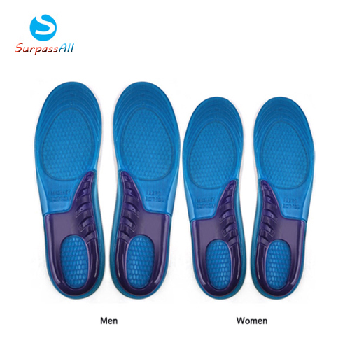SOCOMFY Men/Women Silicone Gel Insoles Sports Massaging Arch Support Orthopedic Plantar Fasciitis Running Insole For shoes 2016 1 pair large size orthotic arch support massaging silicone anti slip gel soft sport shoe insole pad for man women