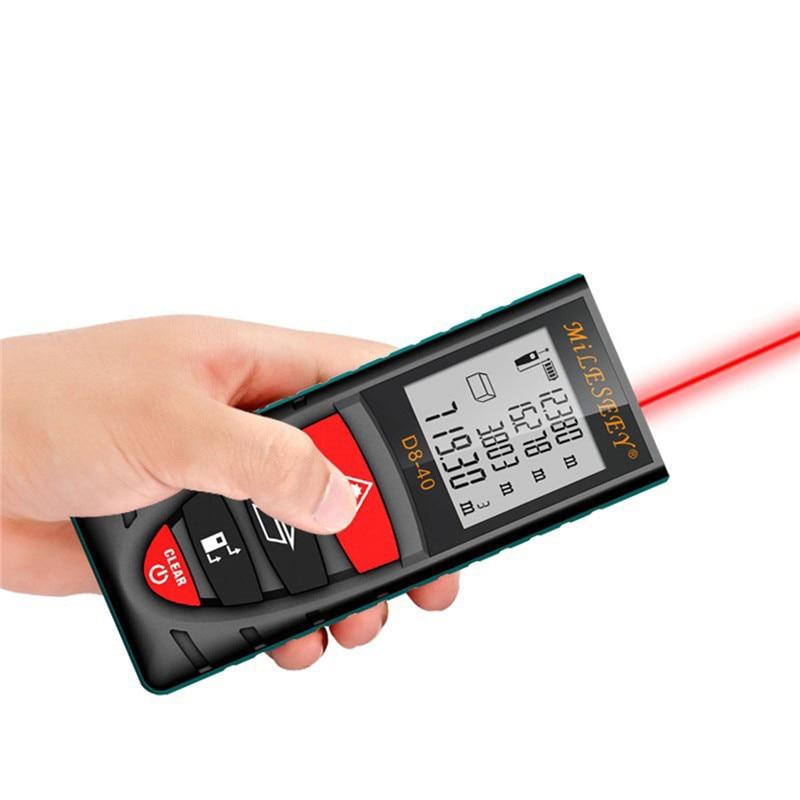 D8 40M 60M 80M 100M Laser Rangefinder Handheld Digital Distance Meter Screen outdoor laser distance meters measure tool kaman mk 60 1 8 lcd handheld laser distance meter rangefinder black red multi colored
