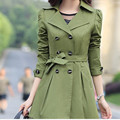 Burderry Rushed 2016 New Sexy Ladies Fashion Autumn Korean Version Of Cultivating Long-sleeved Double-breasted Coat Big Yards