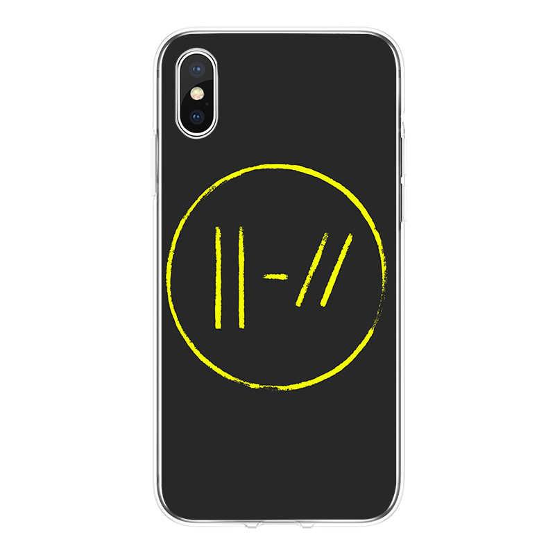 Vinte e Um dos Pilotos 21 Capa de Silicone Macio 2018 TPU Phone Case Para iPhone 5 5C 5S SE 6 6 S 6 além de 7 7 plus 8 8 plus X XS XR Max