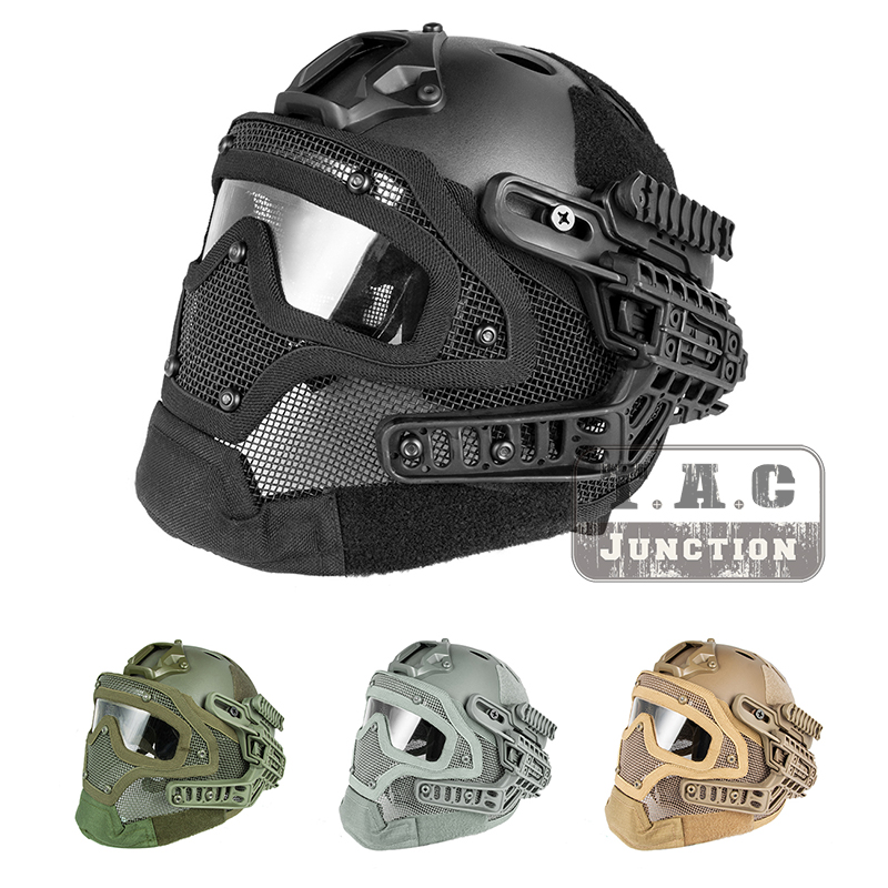 Tactical Airsoft FAST PJ Advanced Adjustment Protective Multi function G4 Full Facial Armor System Combat Helmet
