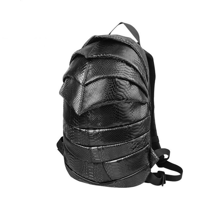 Casual Backpack Beetle Style Men And Women Fashion PU Waterproof Backpack Cool Student Backpack compact fashion waterproof men backpack