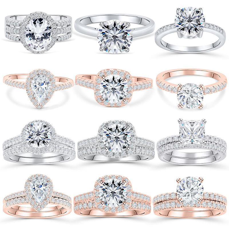 Tonglin Genuine 925 Sterling Silverjewelry Wedding Band Bridal