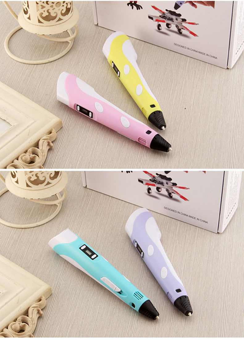 3D Printing Pen With LED Screen And Load Filament Button For Childrens