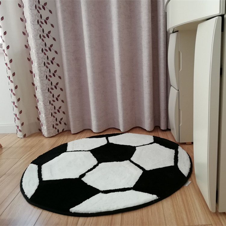 Round Football Basketball Baseball Carpet Pattern Children s Bedroom Bed Blanket Desk Chair Non - slip Mat