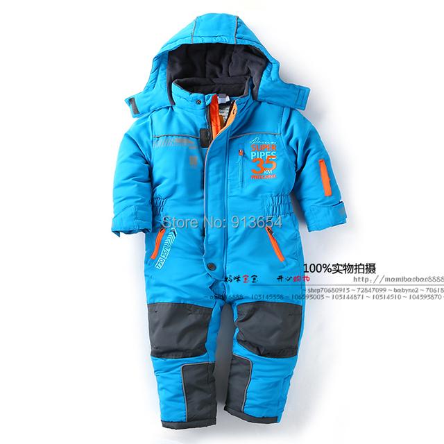New 2016 Romper inverno crianças jaquetas infantis roupas baby boy rompers recém-nascidos criança topolino à prova de vento quente macacão traje do bebê