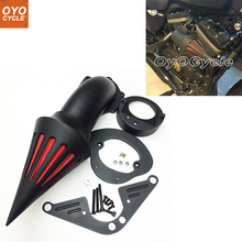 цена на For Yamaha 1999up Road Star Roadstar 1600 1700 XV 1600A Spike Cone Motorcycle Air Cleaner Intake Filters Kit Accessories