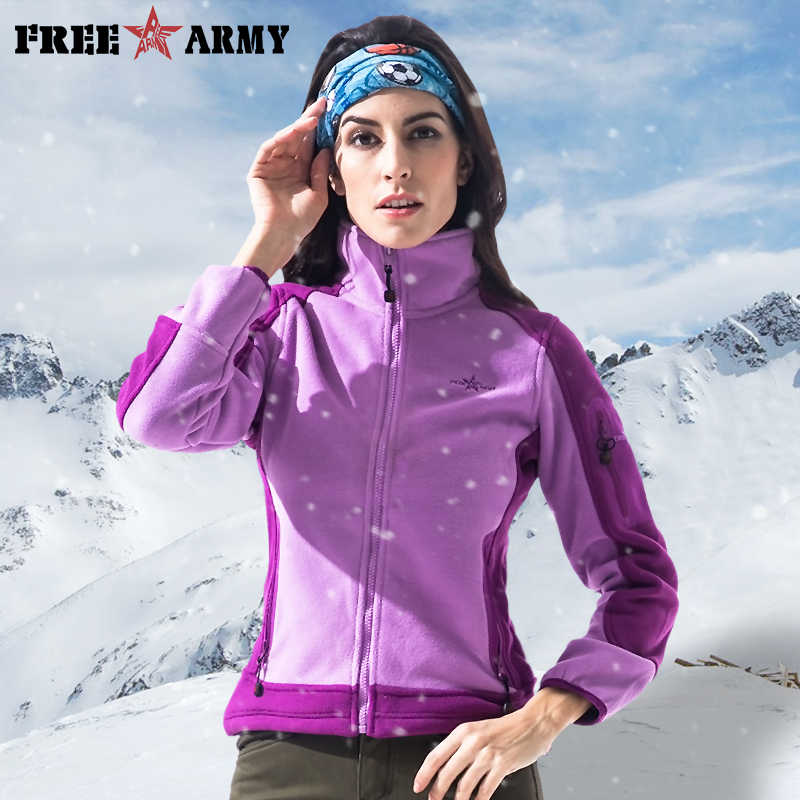 FREEARMY Autumn Military Tactical Fleece Jacket Women's Clothing Zipper Up Windbreaker Army Green Jackets Coats Female Outwear