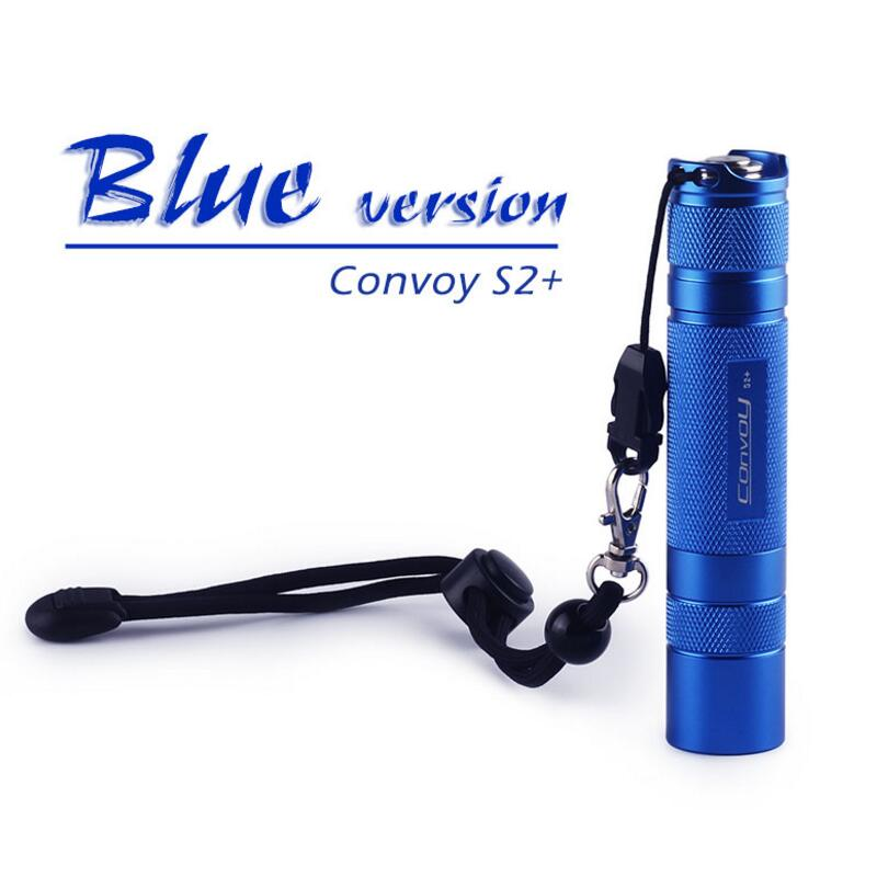 Convoy S2+ Blue CREE LED XML2 Flashlight 3800Lumen Powerful LED Torch Rechargeable Tactical Flashlight Lanterna Flash Lamp Light 3t6 led flashlight cree xml 5mode lamp waterproof lanterna tactical denfense torch with rechargeable 3x18650 battery and charger