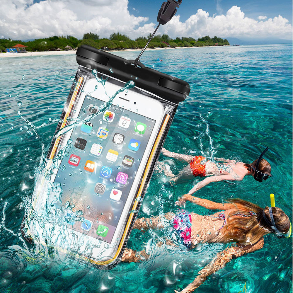 Waterproof Case swimming Bag Bicycle Mount Holder Fluorescent Strip For iPhone 6/6SPlus For Samsung Galaxy S7/S6/Edge/S5/S4