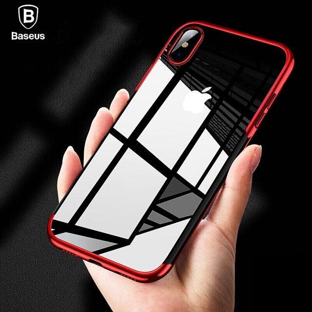 Baseus De Luxe Placage Cas Pour iPhone Xs Max Xr Capinhas TPU Silicone Quatrième De Couverture Pour iPhone Xsmax Pour iPhonexs coque Fundas