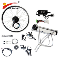 Electric Bicycle Kit Rim 20 26 700C(28) with Battery Motorized Bicycle Kit E Bicycle Brushless Motor Kit E Bike Engine Kit
