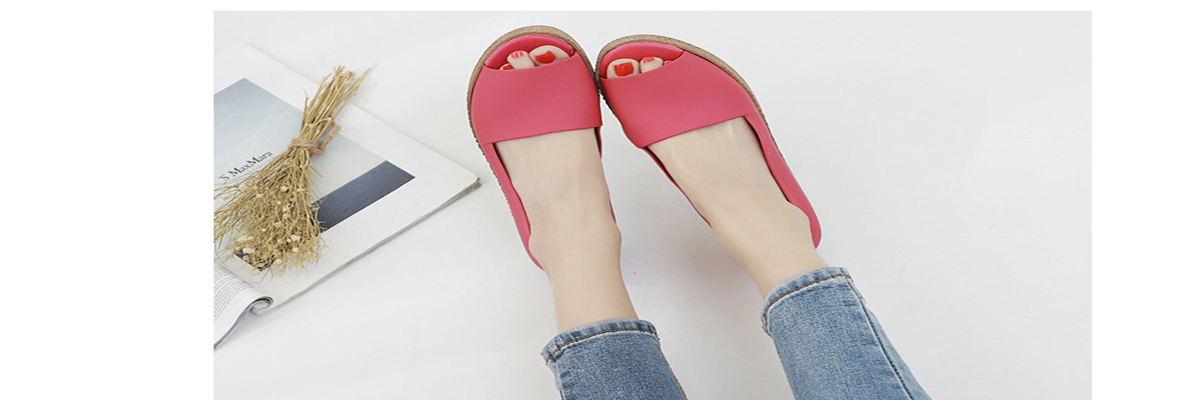 Summer Korean muffin fish head women sandals with platform sandals wild  simple shoes shook with students in 698c9ff09c88