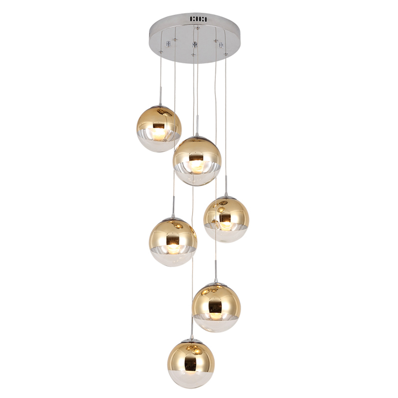Us 11 84 20 Off Gl Pendant Lamps Indoor Lighting Living Room Dining Villa Middle Building Rotating Staircase Golden Long Lights In