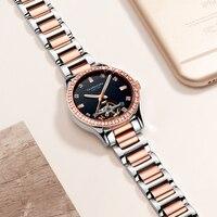 GUANQIN GJ16102 watch luxury brand Mechanical Automatic Hollow watches Waterproof Diamond sapphire Women gold watch dropshipping