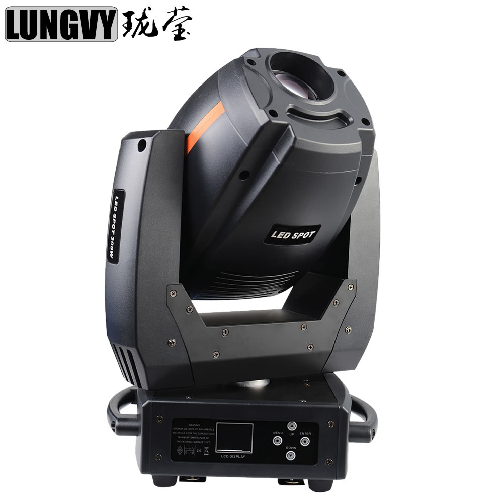 Free Shipping 300W Led Spot Moving Head Lights 14/16  DMX512 Channel 3 Prisms Rotation Stage lighting Professional DJ Equipment 4xlot 90w led spot moving head lights dj controller for stage bar disco party dj wedding free shipping dmx 512 function 90v 240v