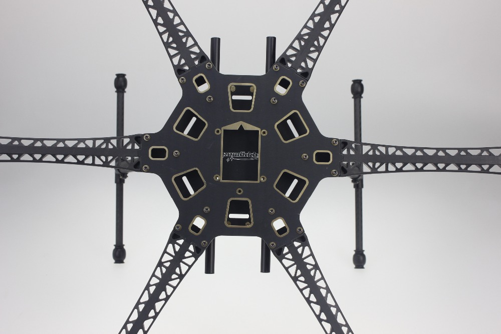 New HMF S550 RC Hexacopter Frame Kit + Landing Gear 6-axle FPV F550 Flamewheel Upgrade Kit + FS DIY Free style image