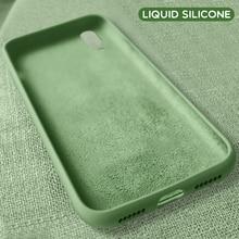 Redmi Note 7 Case on for Xiaomi Cover Original Liquid Silicone Note7 Pro Phone Bumper