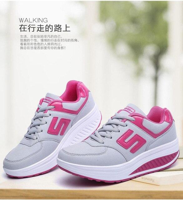 16dad562b Оптовая Продажа Новинка осени женские кроссовки дышащие женские качает  обувь модная женская спортивная обувь Zapatillas Deportivas
