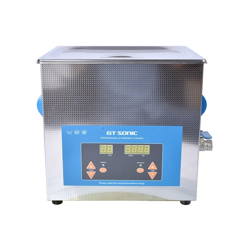 1PC Digital VGT-1990QTD 110/220V Professional Ultrasonic Cleaner Jewelry Bath Household 9L 200W Free Basket