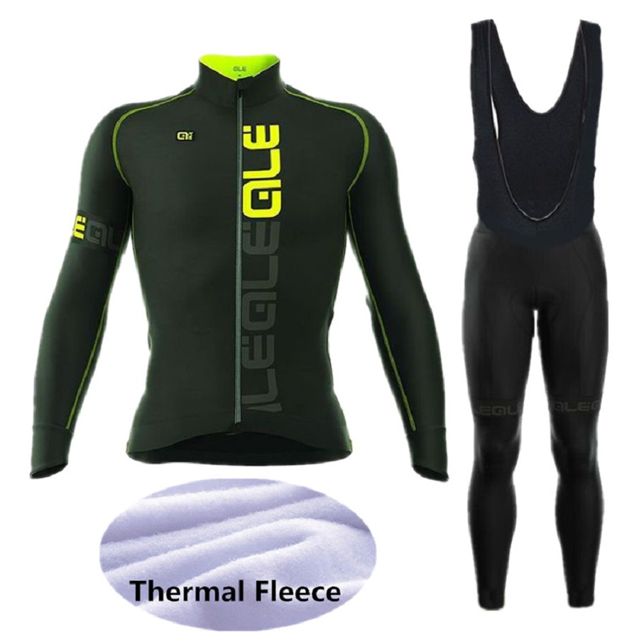 2018 winter new ALE bicycle riding suit warm wool long-sleeved riding gear mountain bike riding clothing men and women models