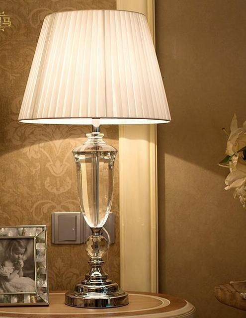 abajur de mesa lamparas europe brief crystal bedside lamp abajur ...