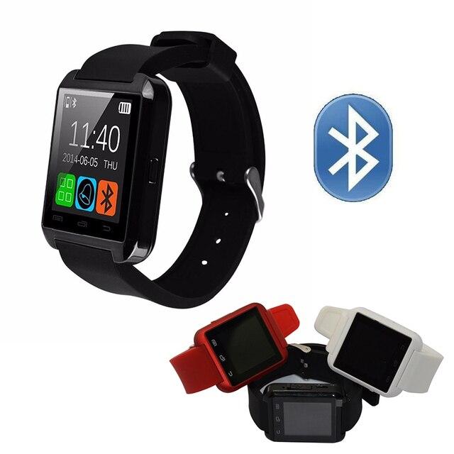 Bluetooth smart watch u8 healty digital esporte wrist watch phone companheiro para android & ios iphone 5 5s se 6 6 s samsung all smartphone