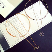 Necklaces Pendants Circle Choker Gold Triangle Wholesale Fashion Women Enamel Big Torques