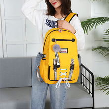 купить Women Canvas Backpacks School Bags For Teenager Girls Student Larger Capacity USB Charge Laptop Backpacks Female Travel Book Bag по цене 1115.7 рублей