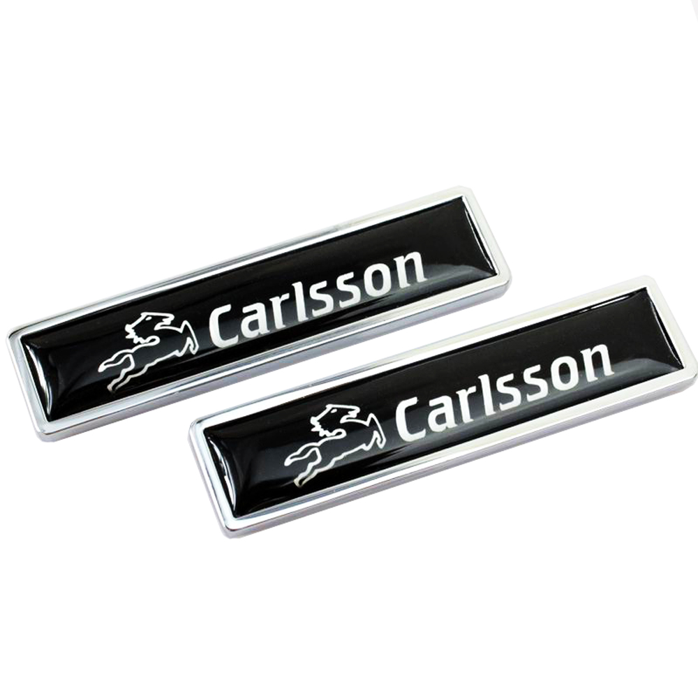 цена на Car Decoration Badge Decals For Mercedes Benz CARLSSON logo Metal Emblem Stickers for w204 w203 w211 w210 w212 w205 cla gla glc