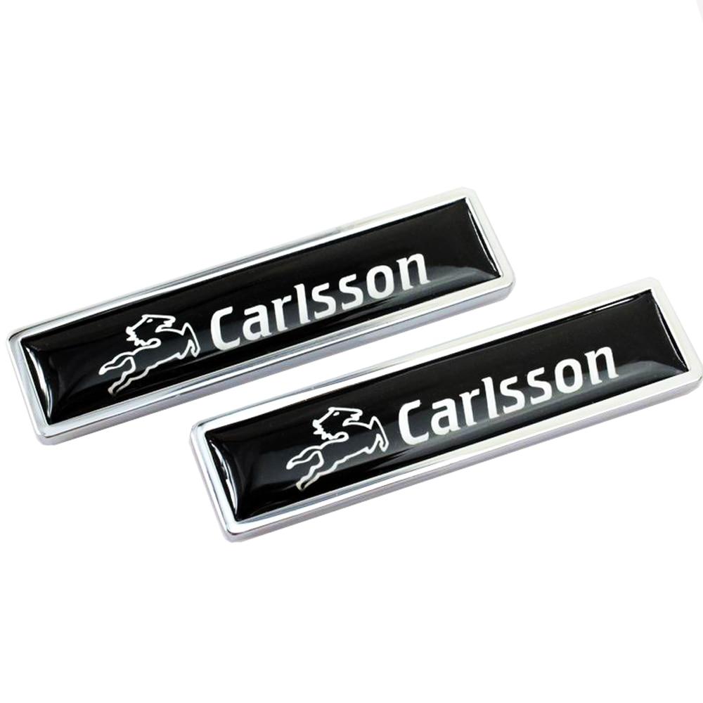 Car Decoration Badge Decals For Mercedes Benz CARLSSON logo Metal Emblem Stickers for w204 w203 w211 w210 w212 w205 cla gla glc for mercedes benz w211 w203 w204 w210 w124 amg w202 cla w212 w220 w205 w201 a class gla w176 clk w209 w204 car styling