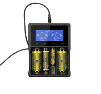 XTAR VC4 charger Universal LCD Screen Display USB Ni MH/Ni CD Li ion Battery 14500/16340/18650/22650/26650/32650 Battery Charger