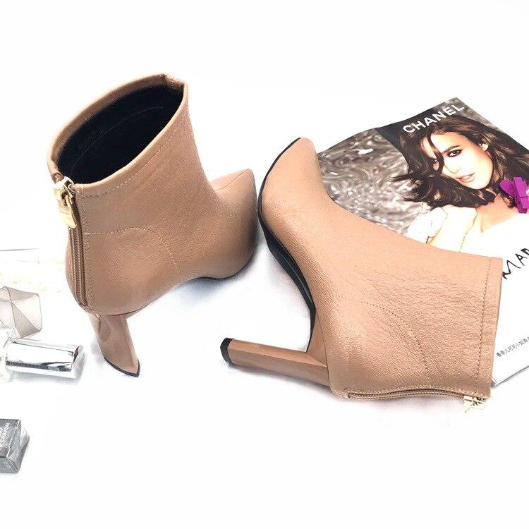 Sharp Glissière Épaissie Femme Black Femmes Fermetures Bottes pink Européen De Et Chaussures Martin Bottes À Américain Mode Dames Marque A876a Doux HZnv7fw