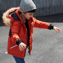 Boys Girls Casual Hooded Down Parkas Children Fashion Fur Collar Snowsuit Kid Comfortable Outwear Kids Thicken Outerwear AA51912