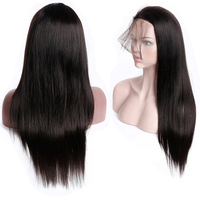 Smoora 10 26 130% Density Brazilian Full Lace Wig Human Hair With Baby Hair Remy Natural Black Straight Full Lace Wig For Women