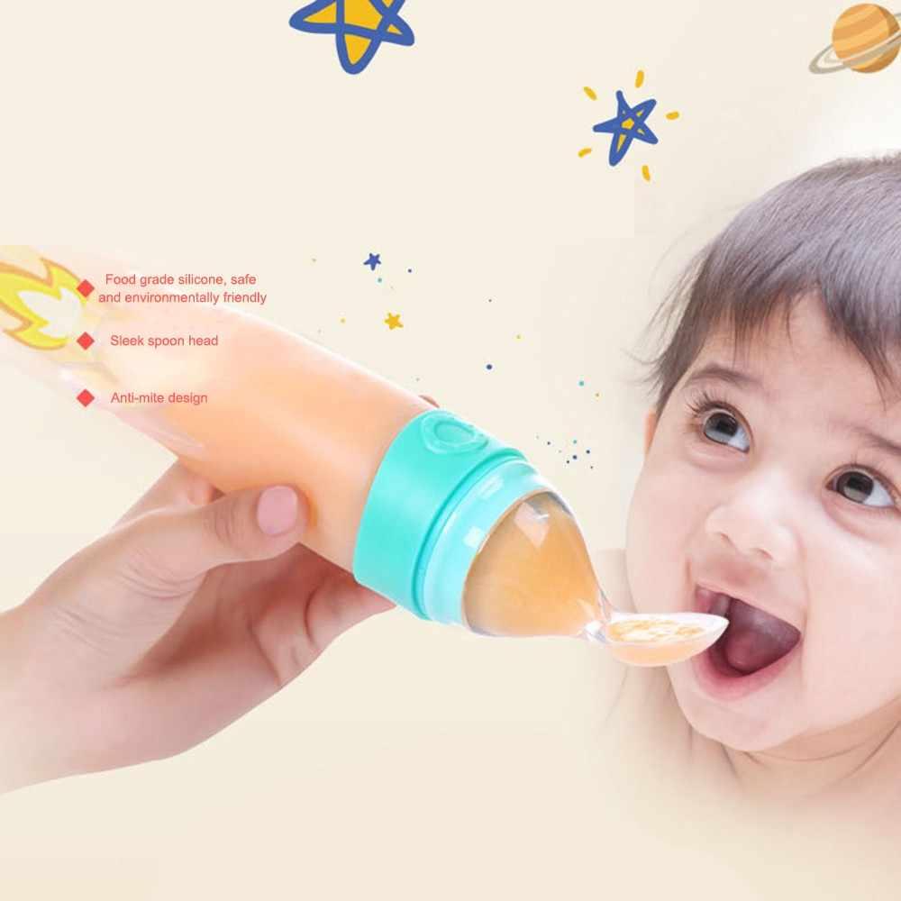 Mambobaby เด็กทารกบีบขวดนมช้อนซิลิโคนเด็กทารก BPA ฟรี Healthy Feeder สำหรับทารกแรกเกิดบีบช้อน