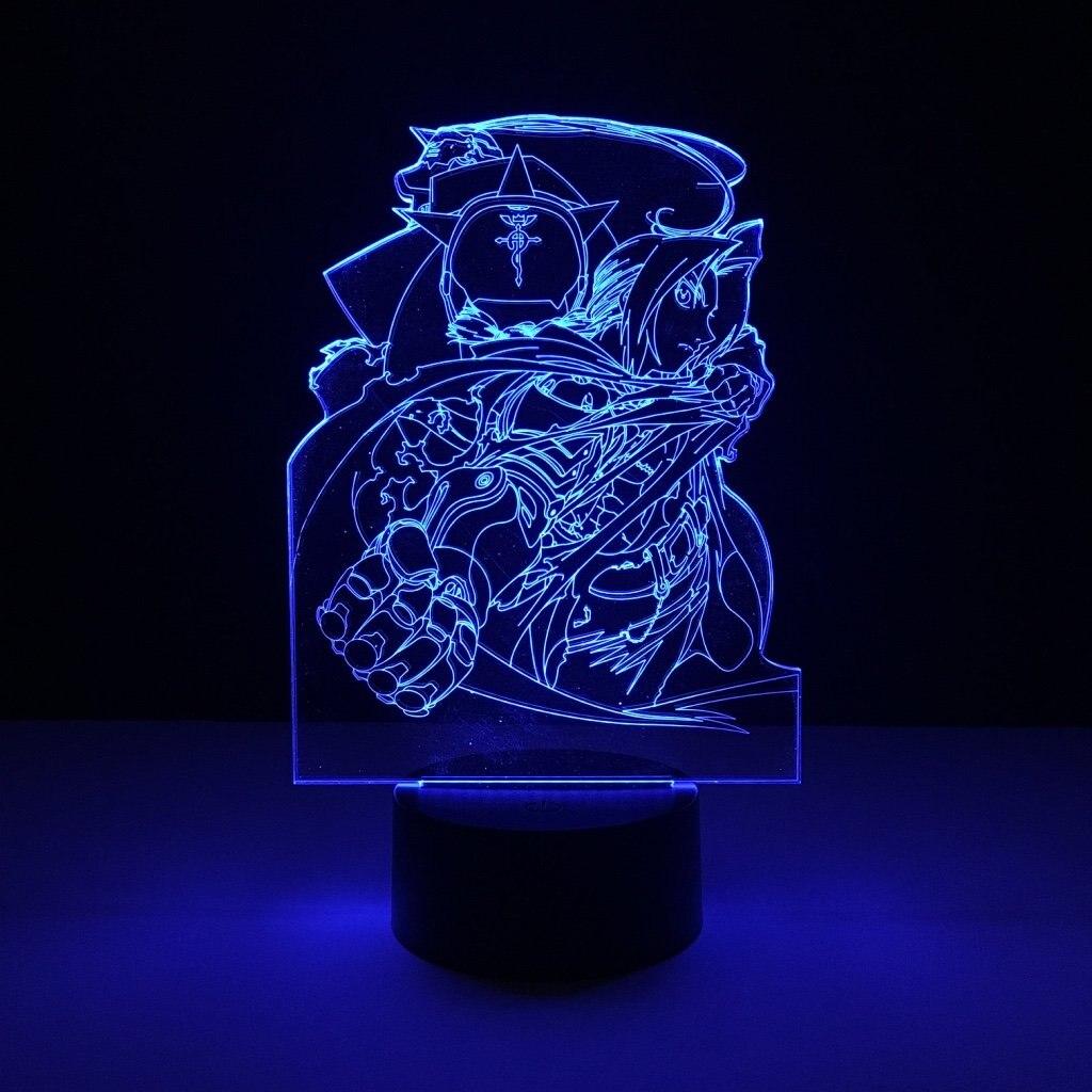 Novetly Kids Led Nightlight Fullmetal Alchemist Night light for Children Bedroom Decor USB Battery Powered Led Night Lamp 3d in LED Night Lights from Lights Lighting