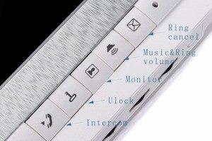 Image 3 - 7 אינץ צג וידאו דלת טלפון אינטרקום מערכת פעמון מצלמה חזותי אינטרקום פעמון וידאו אינטרקום doorphone עבור וילה