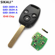 SIKALI Remote Key Suit for Honda for Accord CR V HR V Fit City Jazz Odyssey Shuttle Civic Door Lock 3BT + ID48