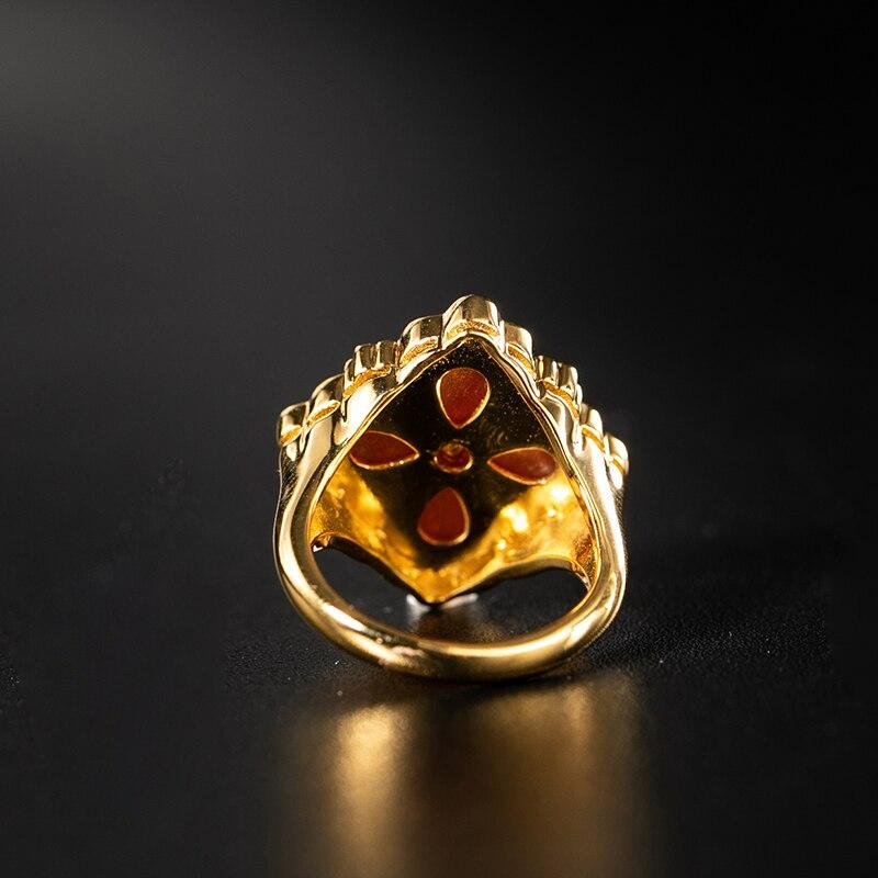 925 argent Zircon anneau argent barre 925 bijoux pour femmes cour européenne style vintage - 5