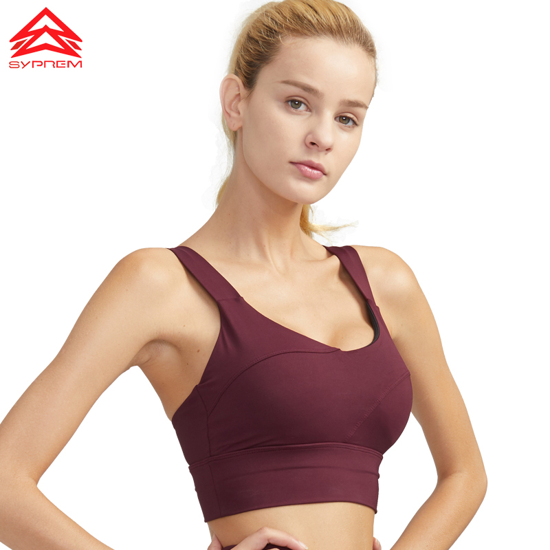 SYPREM Sports Bra Solid Color Yoga Bra Sports Fitness Pilates Stitching Push up Brand Bra Breathable