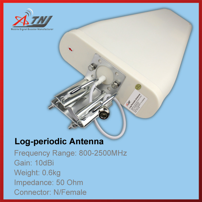 Top Quality+ High Gain 10dbi , ATNJ 800-2500mhz Outdoor Log-periodic  Antenna For 2G 3G 4G Signal Booster