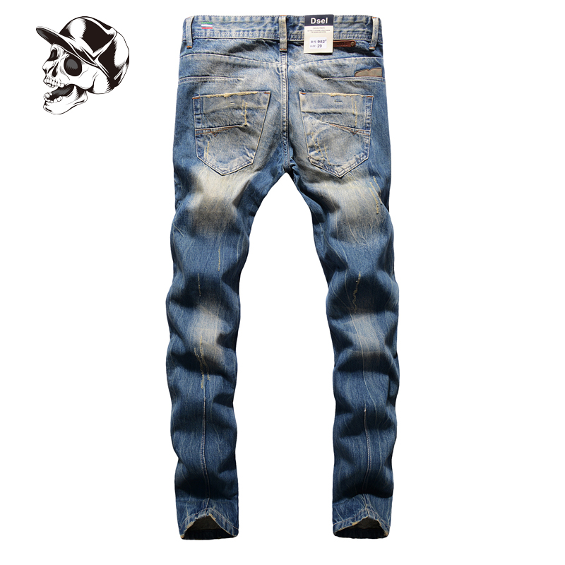 Leisure White Button Jeans Men Slim Straight Denim Blue Jeans Ripped Trouser New Brand Mens Jeans With Logo 29-40 A982 2017 fashion patch jeans men slim straight denim jeans ripped trousers new famous brand biker jeans logo mens zipper jeans 604