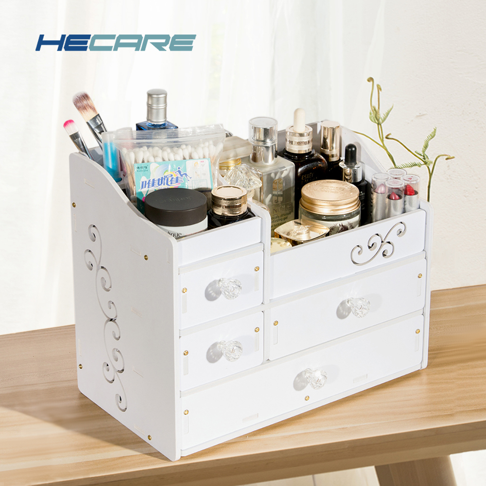 HECARE Plastic Make Up Organizer Jewelry Container DIY Waterproof Storage Box Cosmetic Case
