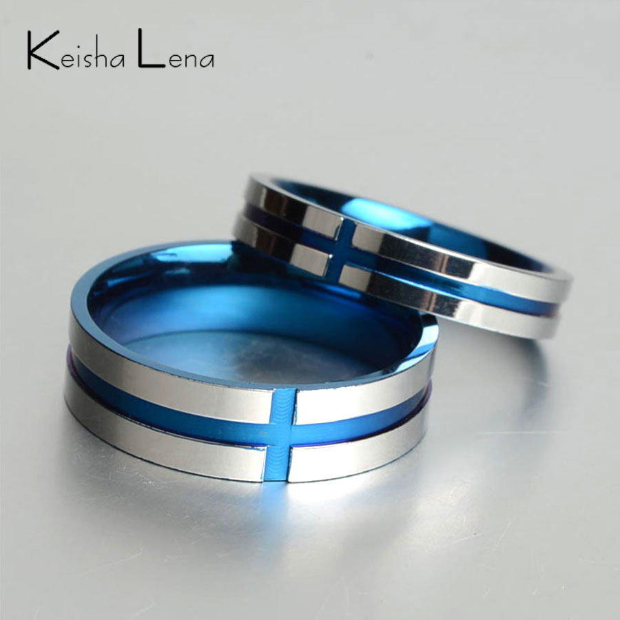ring simulated blue men classy size search rings steel ebay s sapphire stainless images