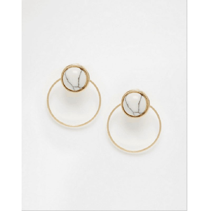 Fashion Bohemian Twelve Constellations Earrings Jewelry Gold Color Geometric Round Metal Stud Earrings Best Gift For Women Girls Long Performance Life Jewelry & Accessories Stud Earrings